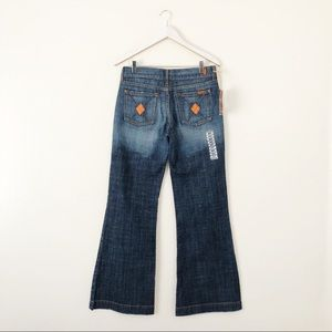 7FAM DOJO Argyle Wide Flare Leg Jeans